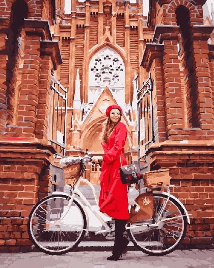Картина по номерам ВанГогВоМне Осень на велосипеде