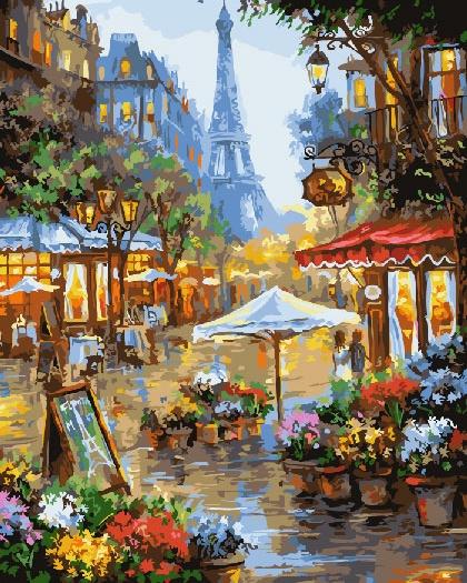 Картина по номерам ВанГогВоМне Дождь в Париже фотоальбом дождь в париже magic home фотоальбом дождь в париже