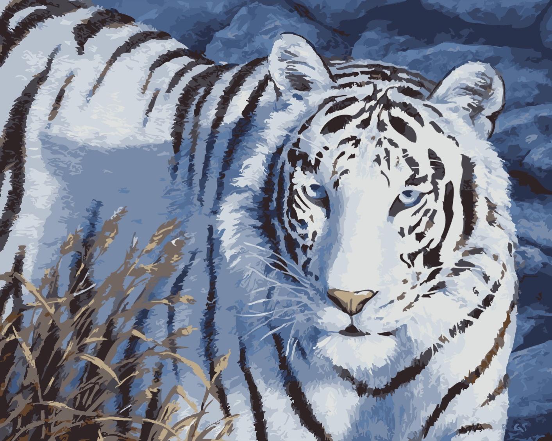 Картина по номерам ВанГогВоМне Снежный тигр наталья турчанинова снежный тигр