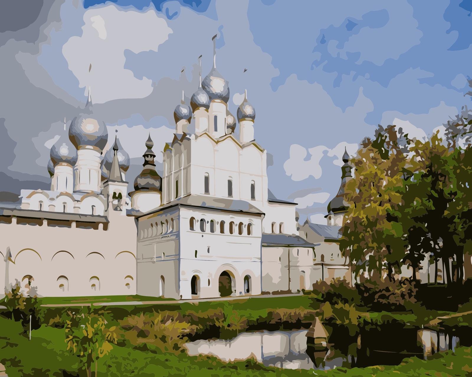 Картина по номерам ВанГогВоМне Кремль в Ростове авиакассы в ростове