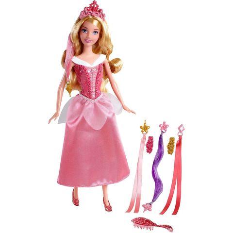Кукла Mattel Аврора Спящая красавица, Модные прически barbie hair 3 3bundles
