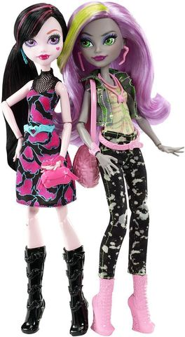 Игровой набор с куклой Mattel Дракулаура и Моаника - Добро пожаловать в Школу Монстров
