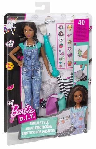 все цены на Кукла Mattel Барби Эмодзи брюнетка онлайн