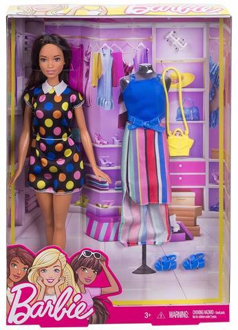 Кукла Mattel Барби Мода Брюнетка original many styles for choose colorful assorted casual high heel shoes boots for barbie doll fashion cute newest