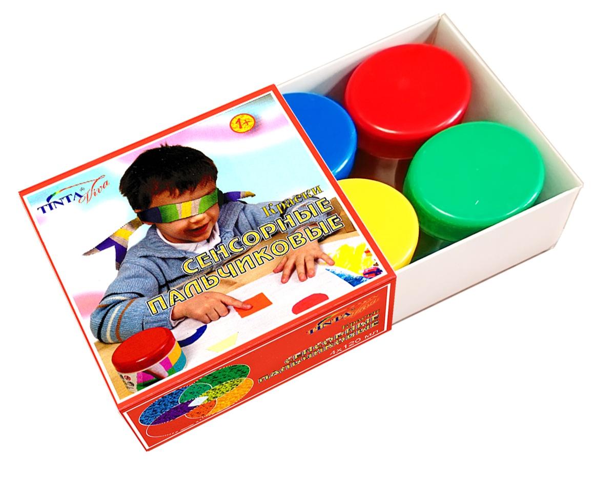 Краски пальчиковые Tinta Viva 39-4.100-00 сенсорные 4*120 480 мл краска пальчиковая tinta viva 911 39 4 100 00