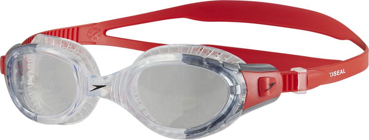 Очки для плавания Speedo Fut Biof Fseal Gog Au, 8-11313B991, красный, прозрачный ласты для тренировок speedo biofuse fin красный черный 11 12