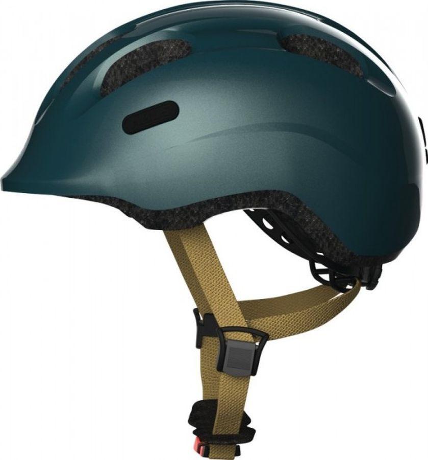 Шлем защитный Abus Smiley 2.0 Royal, зеленый, размер M велошлем детский abus smiley пчелы размер m 50 55