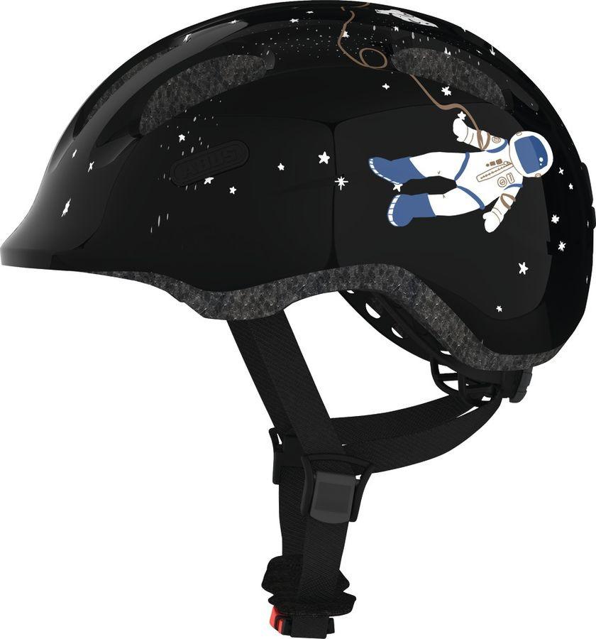 Шлем защитный Abus Smiley 2.0 Космос, черный, размер M (50-55) велошлем детский abus smiley пчелы размер m 50 55
