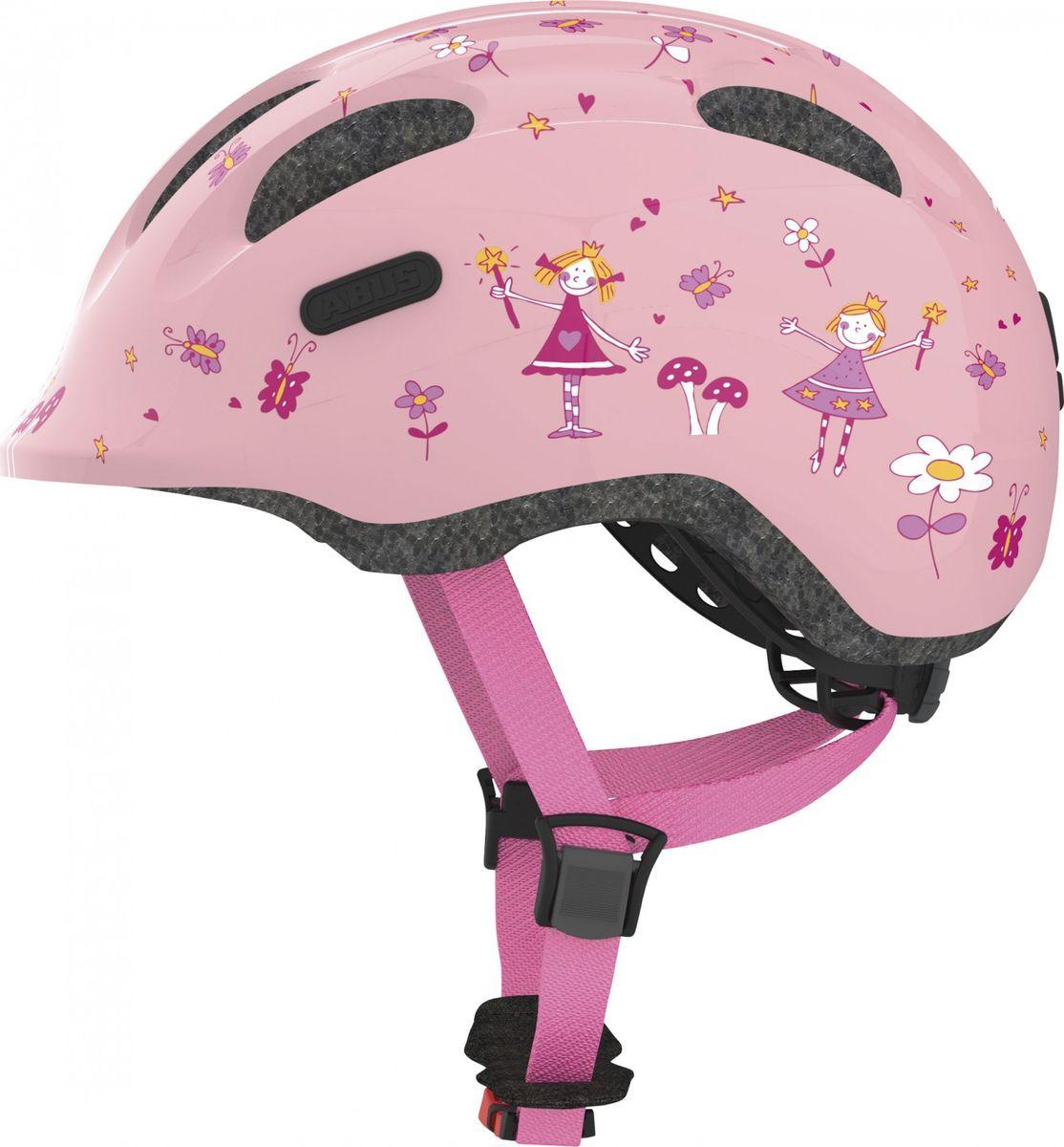 Шлем защитный Abus Smiley 2.0 Принцесса, розовый, размер M (50-55) велошлем детский abus smiley пчелы размер m 50 55