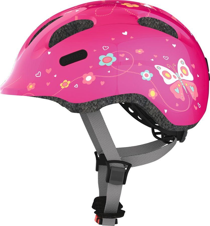 Шлем защитный Abus Smiley 2.0 Бабочки, розовый, размер S (45-50) велошлем детский abus smiley пчелы размер m 50 55