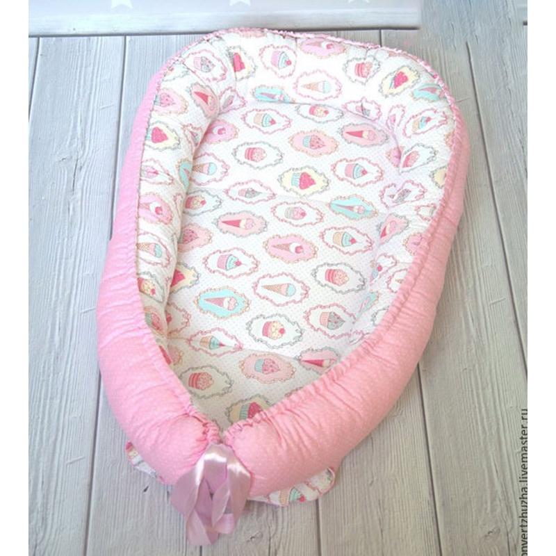 Позиционер dolly-kids 970g, белый, розовый