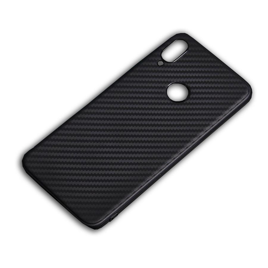 Чехол для сотового телефона ТПУ под карбон для Xiaomi Redmi Note 7, черный