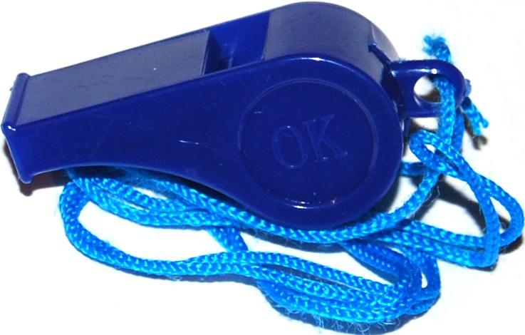 Свисток спортивный IN-SPORTS Свисток WI-001, синий IN-SPORTS