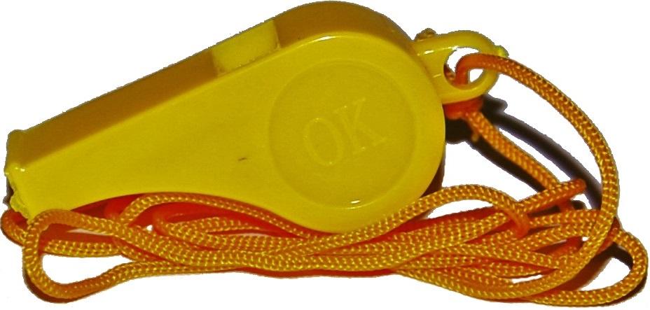 Свисток спортивный IN-SPORTS Свисток WI-001, желтый IN-SPORTS