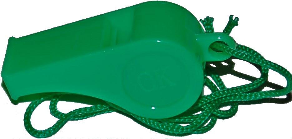 Свисток спортивный IN-SPORTS Свисток WI-001, зеленый IN-SPORTS