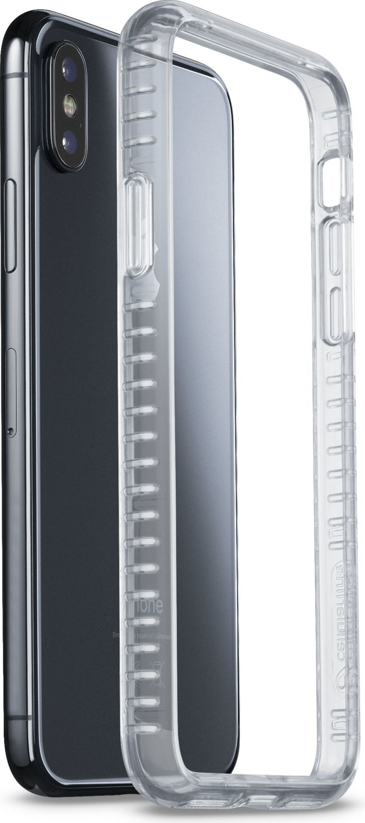 Фото - Чехол-бампер Cellularline для Apple iPhone X, AIRFRAMEIPH8XT, прозрачный чехол для iphone xs max cellularline clear duo прозрачный
