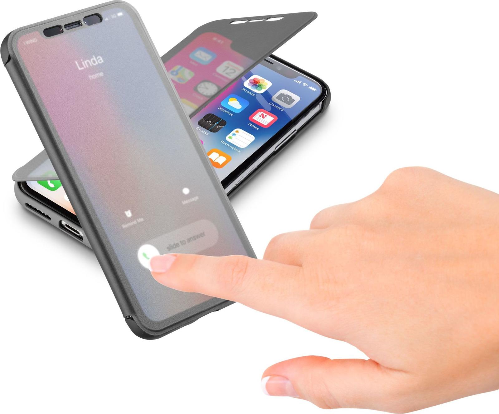 Чехол Cellularline для Apple iPhone X, BOOKTOUCHIPH8XK, черный чехол cellularline для apple iphone x bookagendaiph8k черный