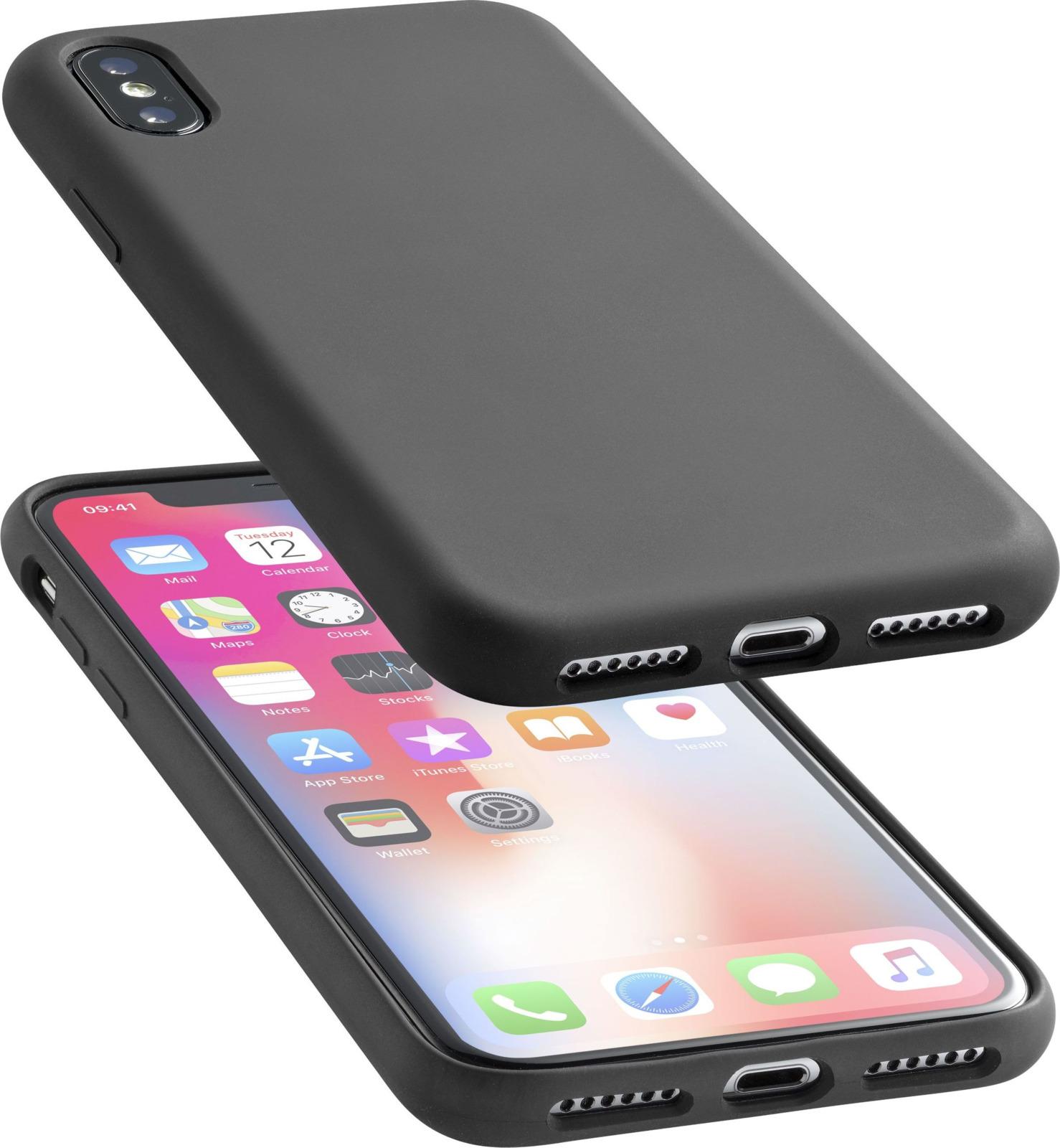 Чехол Cellularline для Apple iPhone X, SENSATIONIPH8XK, черный loopee чехол крышка loopee для apple iphone 6 пластик черный