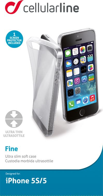 цена на Чехол Cellularline для Apple iPhone 5/5s/SE, FINECIPH5ST, прозрачный