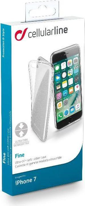 Чехол Cellularline для Apple iPhone 7/8, FINECIPH747T, прозрачный цены онлайн