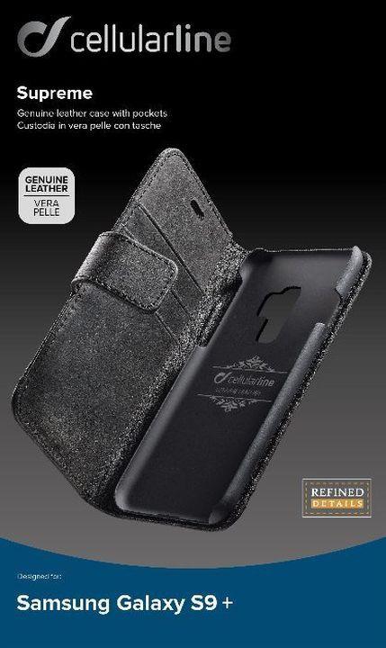 Чехол Cellularline для Samsung Galaxy S9+, SUPREMECGALS9PLK, черный