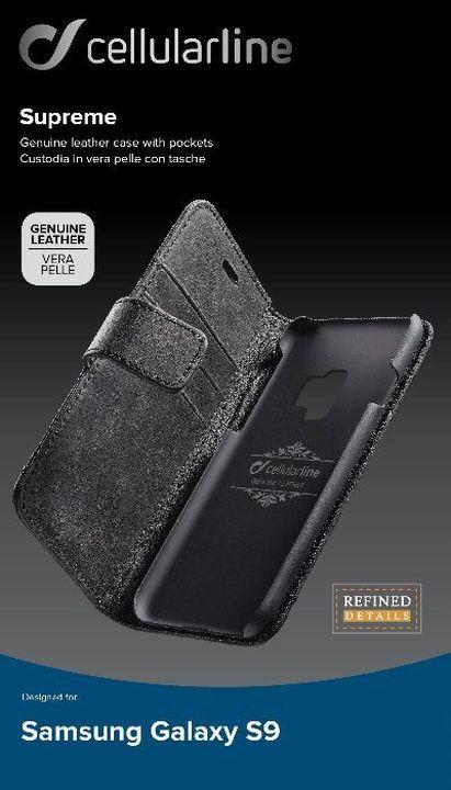 Чехол Cellularline для Samsung Galaxy S9, SUPREMECGALS9K, черный