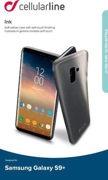 Чехол Cellularline для Samsung Galaxy S9+, INKGALS9PLK, черный