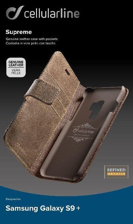Чехол Cellularline для Samsung Galaxy S9+, SUPREMECGALS9PLN, коричневый