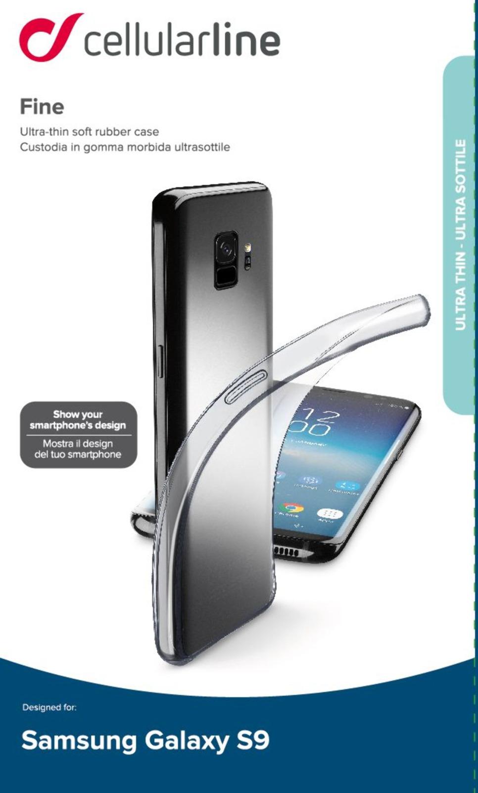 Чехол Cellularline для Samsung Galaxy S9, FINECGALS9T, прозрачный стоимость