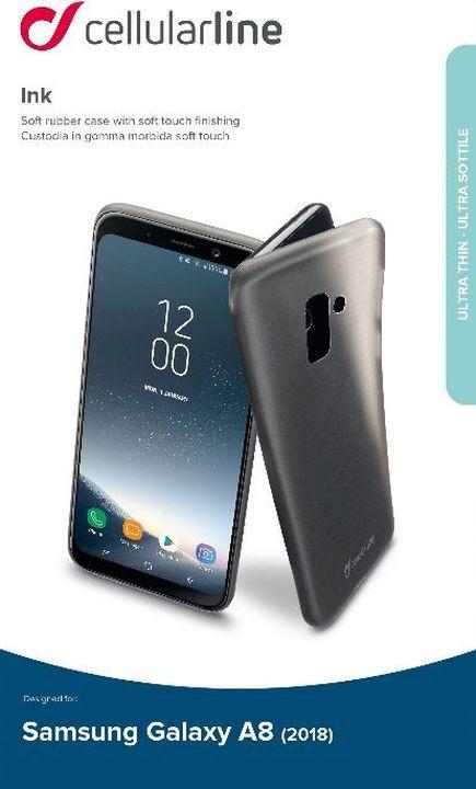 Чехол Cellularline для Samsung Galaxy A8 (2018), INKGALA818K, прозрачный чехол книжка cellularline samsung galaxy a8 black