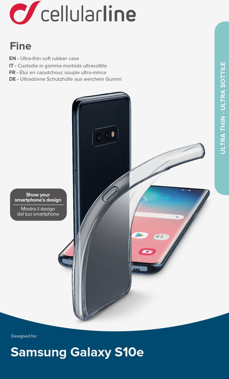 Чехол Cellularline для Samsung Galaxy S10 Lite, FINECGALS10LT, прозрачный чехол для samsung galaxy s8 cellularline clear duo прозрачный