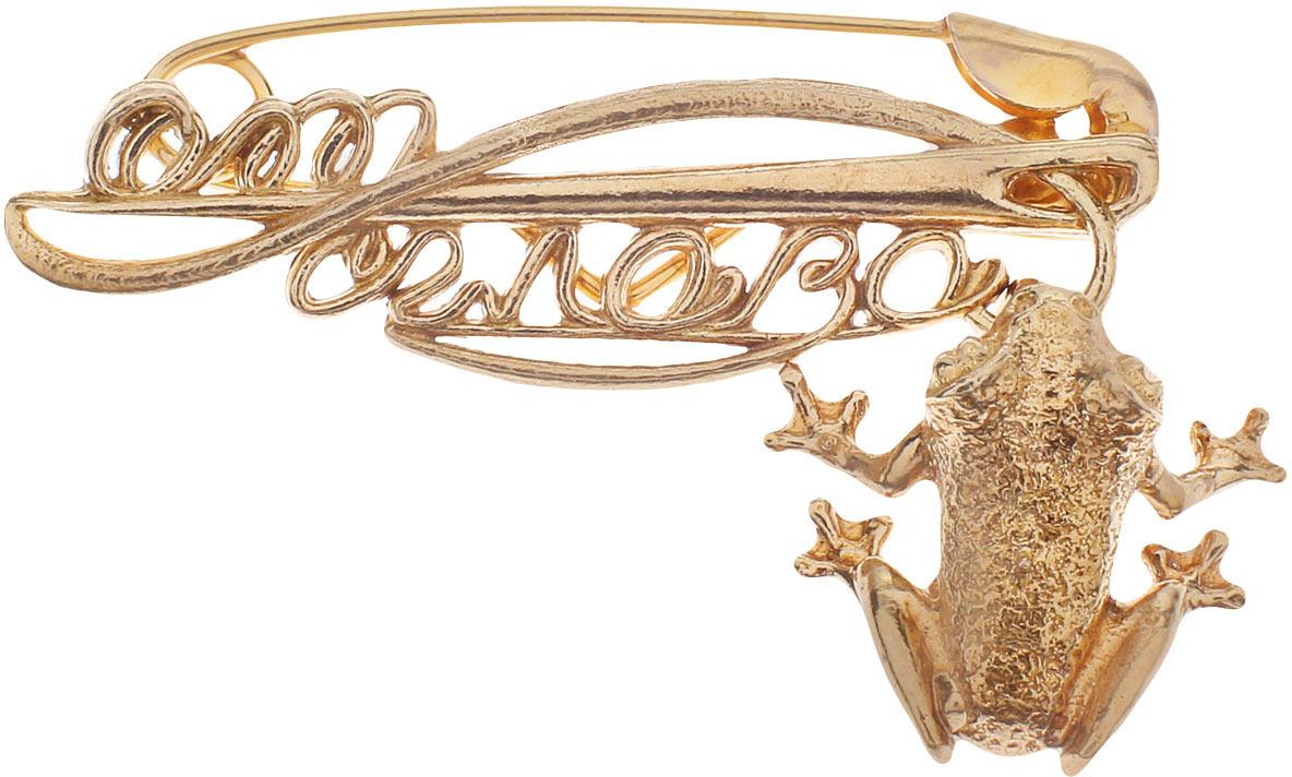 Булавочка от сглаза Miland Лягушка, Т-6401, золотой, 3 см