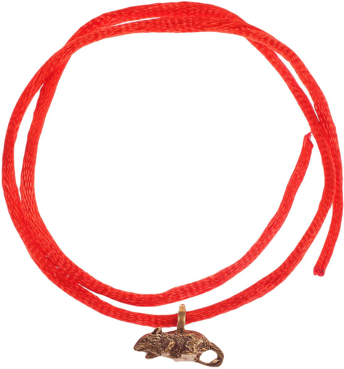Оберег красная нить Miland Мышка, Т-6434, золотой сувенир мкт оберег для кошелька кошельковая мышка с грошем