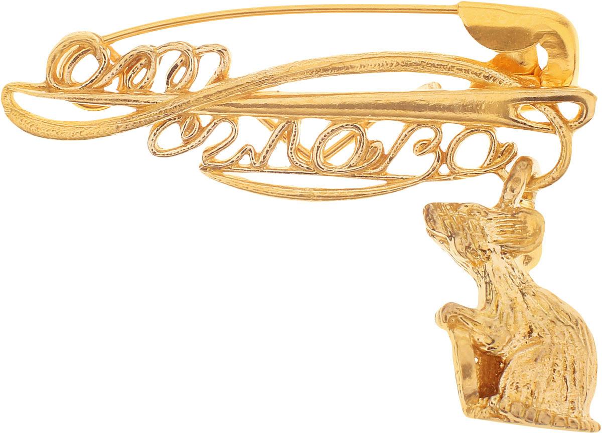Булавочка от сглаза Miland Мышка, Т-6400, золотой, 3 см