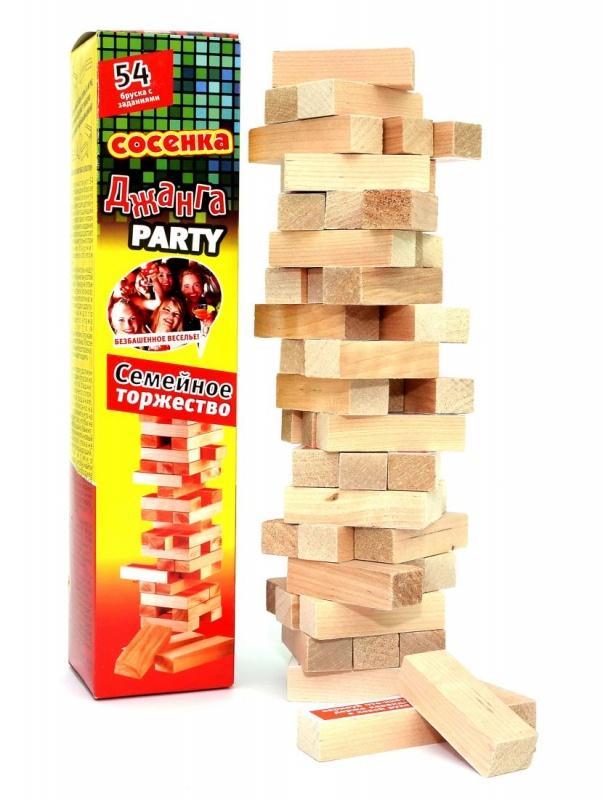 Настольная игра Задира Дженга Party Дубок Семейное Торжество настольная игра дженга бум