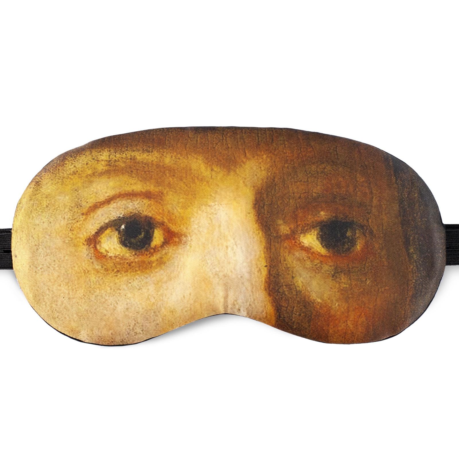 Маска для сна Shuba с изображением глаз героя картины Ночной Дозор (художник Рембрандт) в пластиковой упаковке