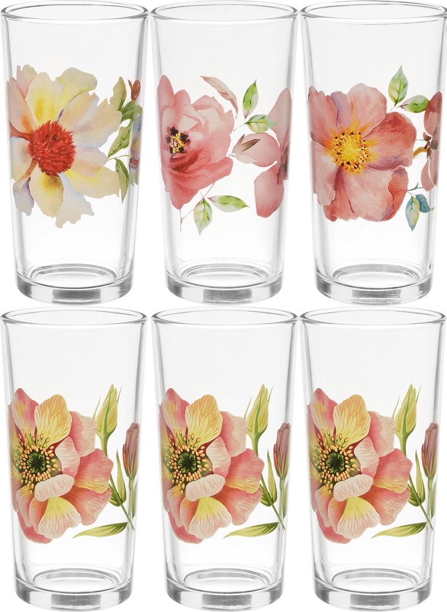 Фото - Набор стаканов ОСЗ Ода Акварельные цветы, 230 мл, 6 шт [супермаркет] jingdong геб scybe фил приблизительно круглая чашка установлена в вертикальном положении стеклянной чашки 290мла 6 z