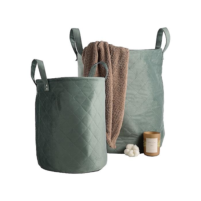 Набор корзин 791748green, зеленый набор из 2 грибных корзин природный интерьер k 2224 s 2