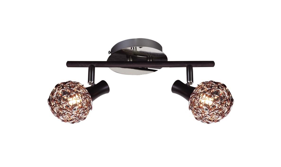 Настенно-потолочный светильник Лампландия Fire, серебристый потолочный светильник лампландия edmon светло серый