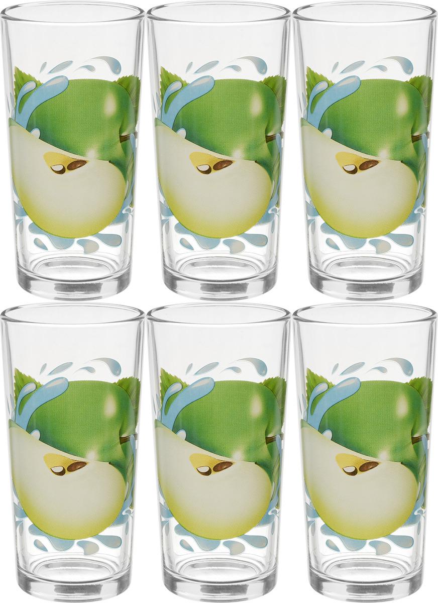Фото - Набор стаканов ОСЗ Ода Яблоко зеленое К, 230 мл, 6 шт [супермаркет] jingdong геб scybe фил приблизительно круглая чашка установлена в вертикальном положении стеклянной чашки 290мла 6 z