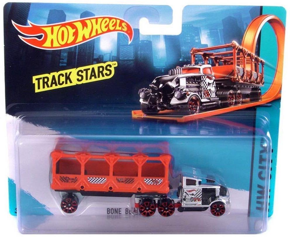Трейлер Hot Wheels Track Stars Bone Nlazers, красный 9 врата трейлер
