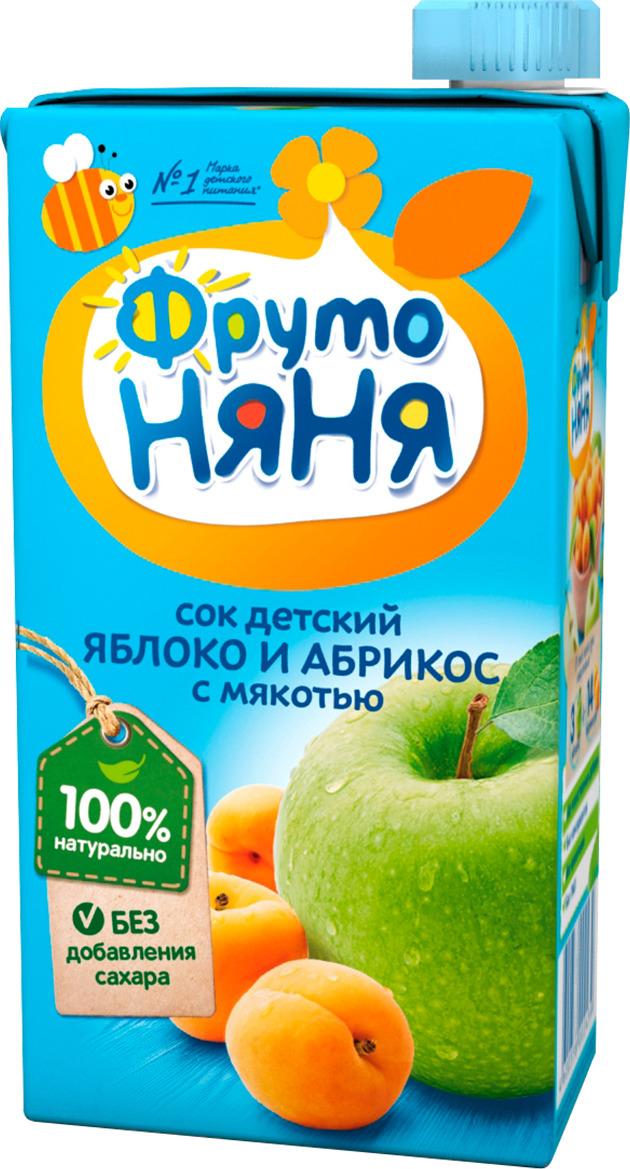 Фото - ФрутоНяня сок из яблок и абрикосов, 0,5 л фрутоняня сок из яблок 0 5 л