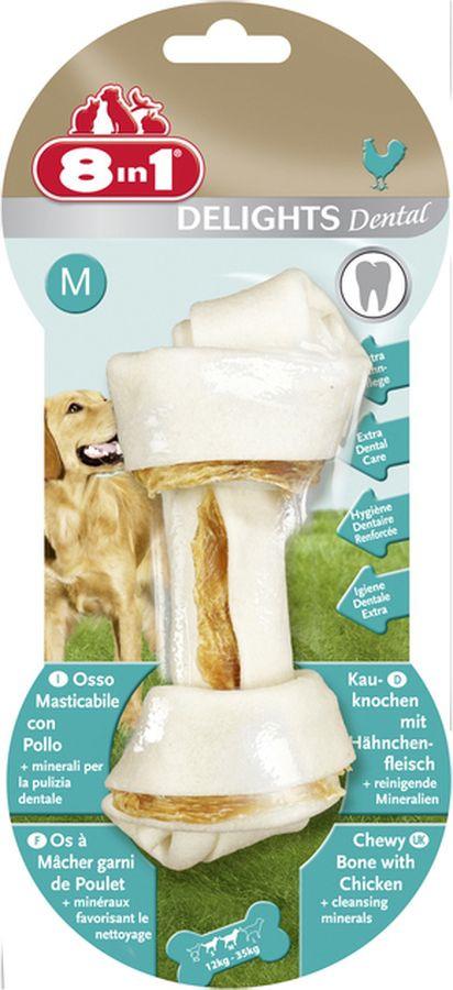 8 in 1 8 in 1 delights m Лакомство 8 in 1 Dental Delights M для собак средних и крупных пород, косточка для чистки зубов, 70 г
