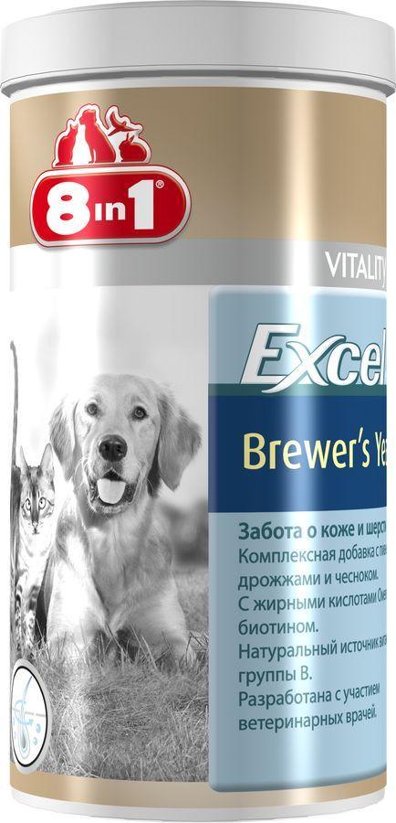 Добавка к корму 8 in 1 Excel Пивные дрожжи, для кошек и собак , 1430 таблеток витамины для собак 8 в 1 excel для суставов