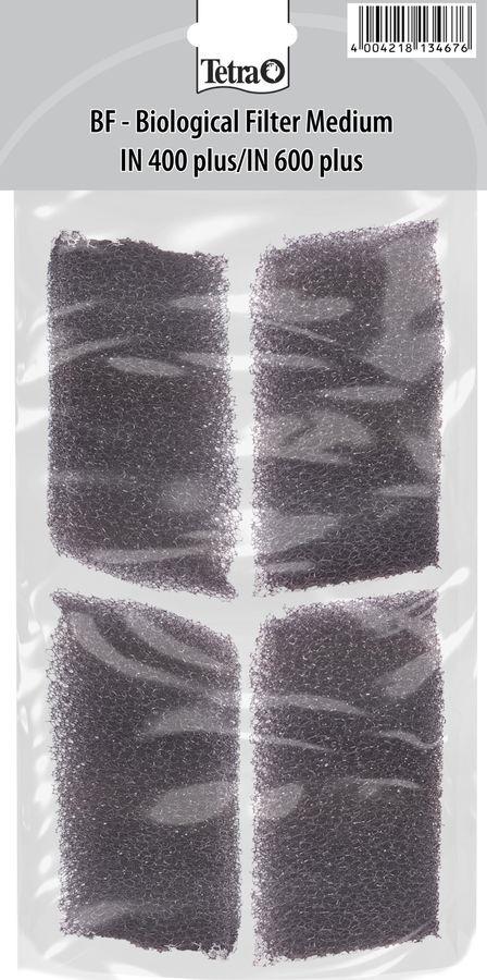 Губка для фильтра Tetra BF 400/600, для IN Plus 400/600, 4 шт фильтрующий материал tetra для фильтров tetra тек in 400 600 губка уголь