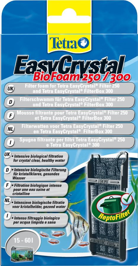 Губка для фильтра Tetra FB 250/300, для EasyCrystal 250/300 фильтрующий материал tetra для фильтров tetra изи кристал фильтр пак с 250 300 губка уголь