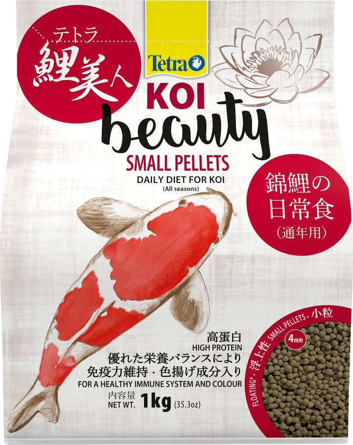 Корм для карпов кои Tetra Koi Beauty S, гранулы, 4 л tetra корм tetra koi beauty s для карпов кои размером более 10 см в виде плавающих гранул 10 л