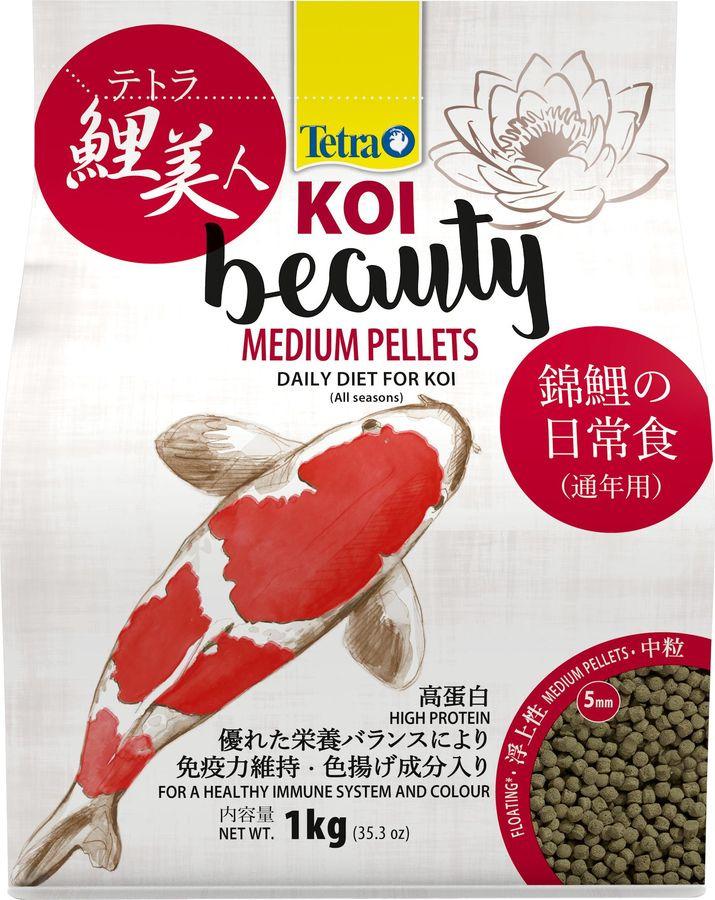 Корм для карпов кои Tetra Koi Beauty M, гранулы, 4 л tetra корм tetra koi beauty s для карпов кои размером более 10 см в виде плавающих гранул 10 л