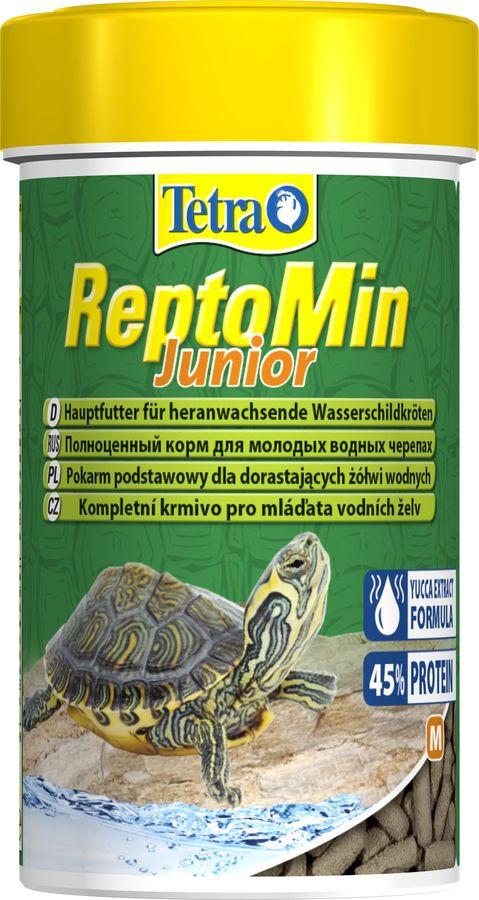 Корм для молодых водных черепах Tetra ReptoMin Junior, палочки, 100 мл корм tetra reptomin junior для молодых водных черепах палочки 250 мл
