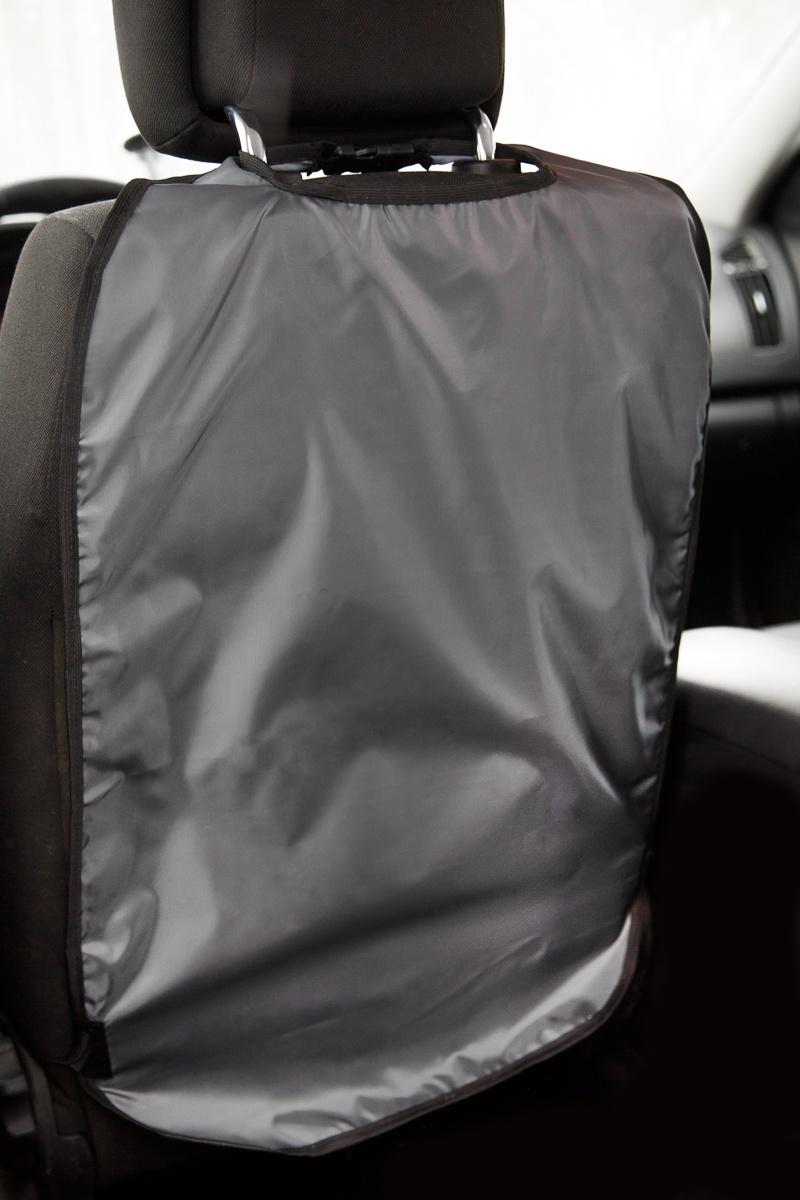 Накидка защитная на спинку переднего сидения. Цвет темно-серый. БимБом. на авто цвет темно синий перламутр